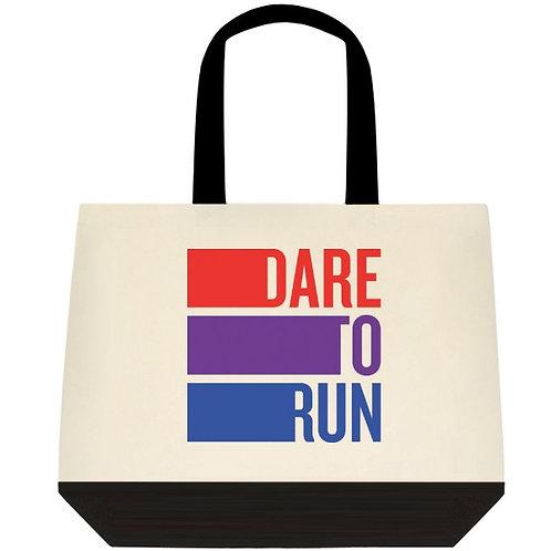 Dare to Run Cotton Tote Bag