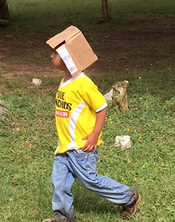 box on head boy