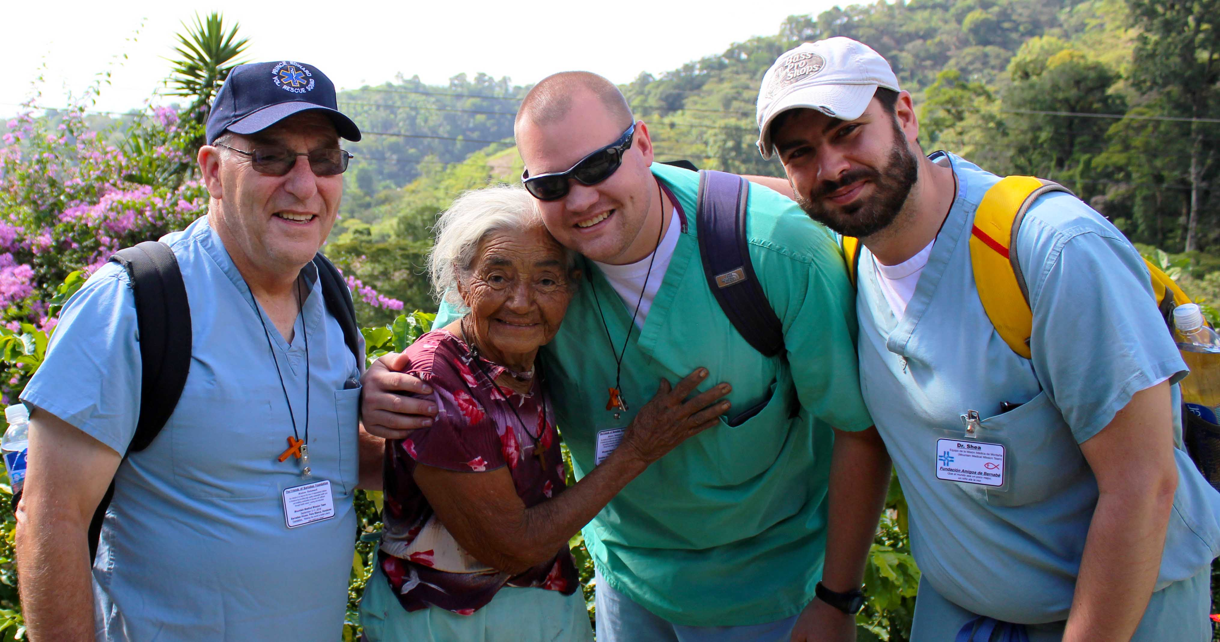 abuela midwife with bill, daniel, shea