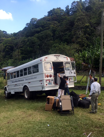 bus unloading bethany