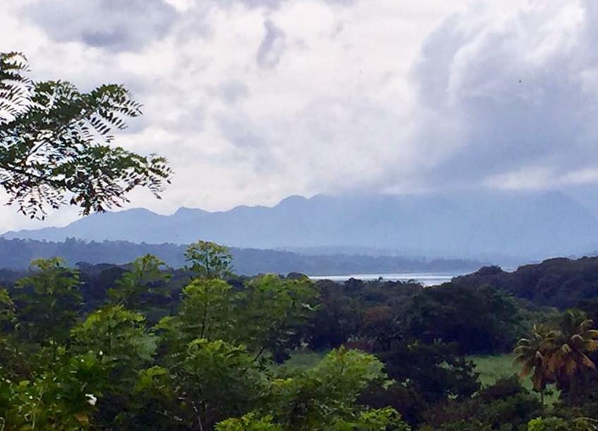 lake yojoa misty mountains