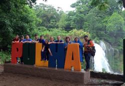 Rockbridge team by the falls