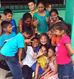 Sarah Kate with kids