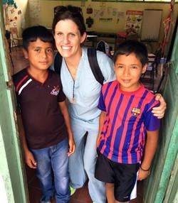 Kelly Bojar with boys