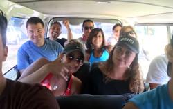 Los Robles in the van