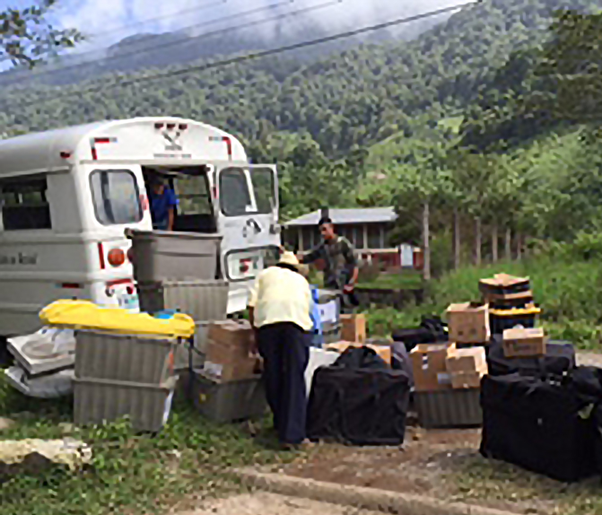 bus unload