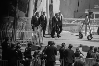 President Obama with Major Bloomberg,Governor Christie and Governor Cuomo