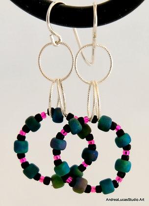 9-Beaded Circle Earrings