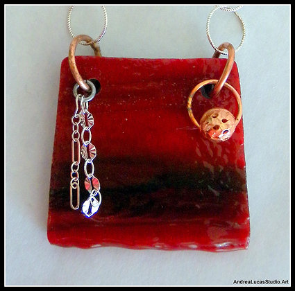 #2 Red Glass Necklace