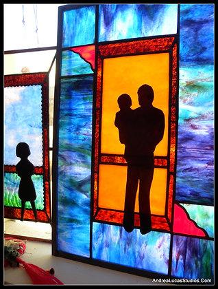 Screen Door Series - Father/Child