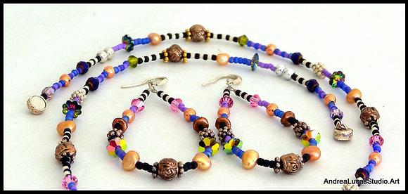 Calamity Blues Necklace/Earring Set