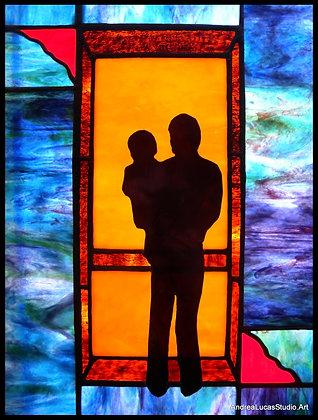 Screen Door Series/Father,Baby
