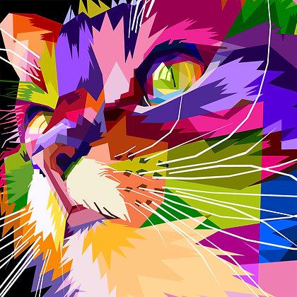 53/Peapod Puzzle - Rainbow Kitty
