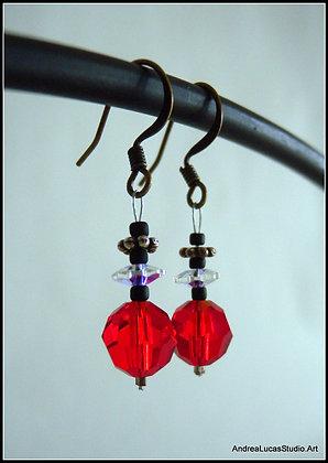 #3 - Red Swarovski Earrings