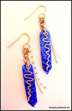 #1 Cobalt Glass Earrings
