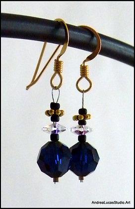 #2 - Sapphire Swarovski Earrings