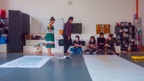 Artists with Atrika & Azpirasi Youth Groups