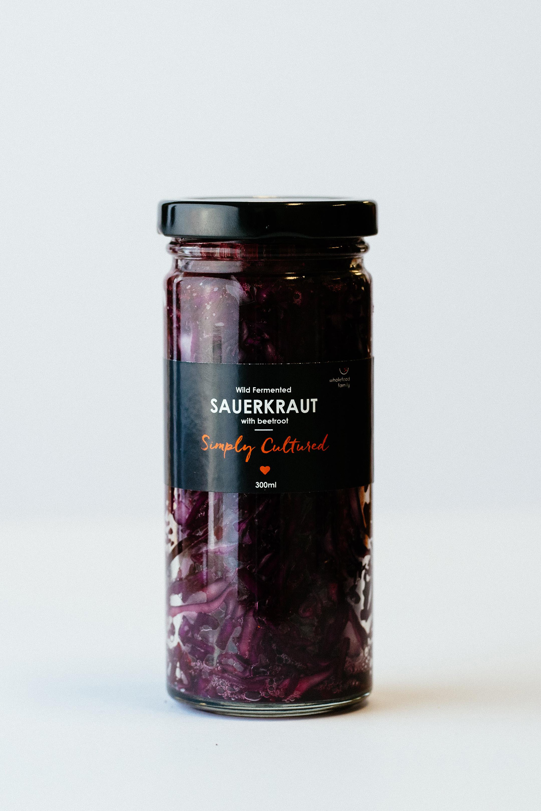 Sauerkraut with Beetroot
