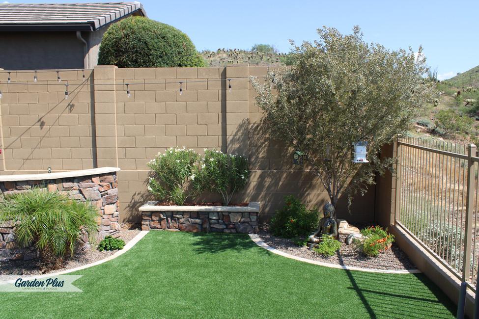 Backyard Design, Zen Garden, Artificial Turf
