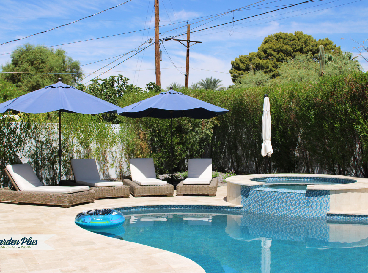 Pool Remodel, Add Raised Spa from Backyard Remodel