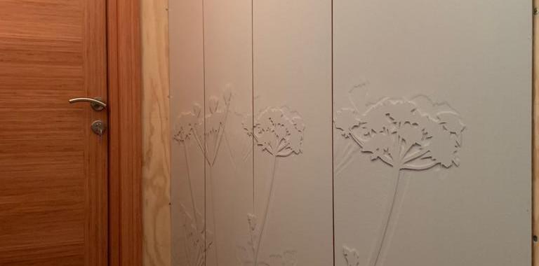 """Marcos, Puerta, Impresión panel """"Flor"""""""