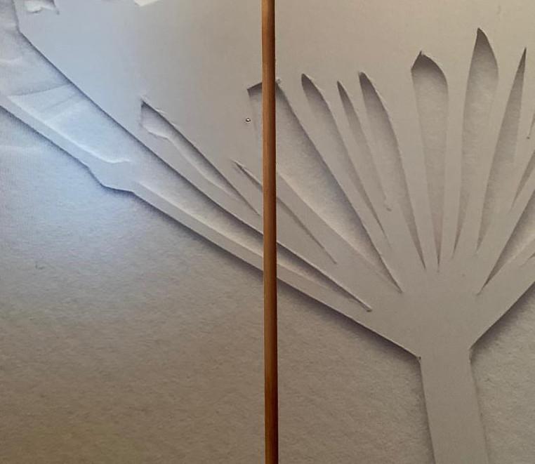 "Impresión en panel ""Flor"""