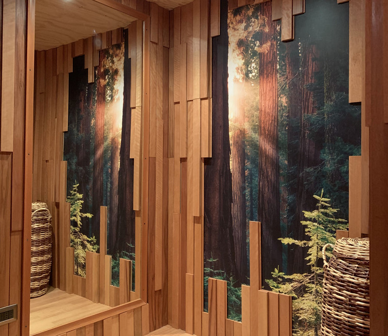 Revestimiento 3D, Panel impreso Bosque