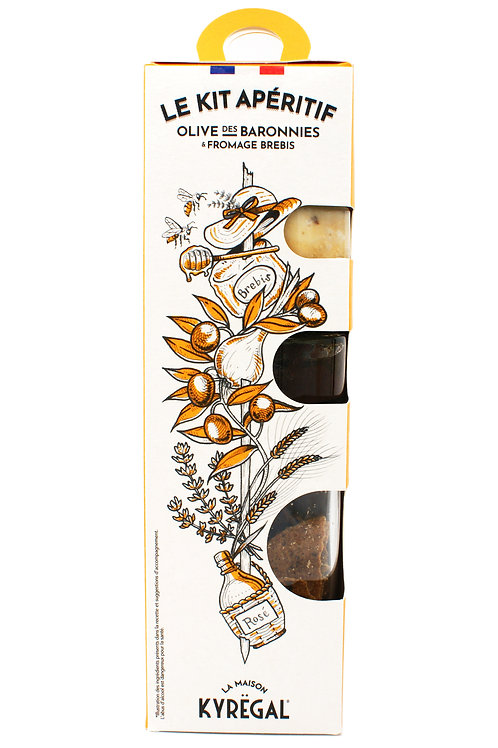 Le kit apéritif olive baronnies & fromage brebis