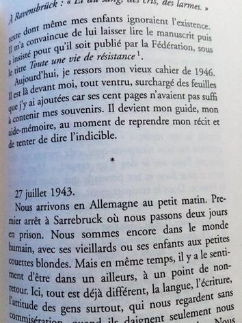 """Extrait """"Résister toujours"""" de Marie-José Chombart de Lauwe."""