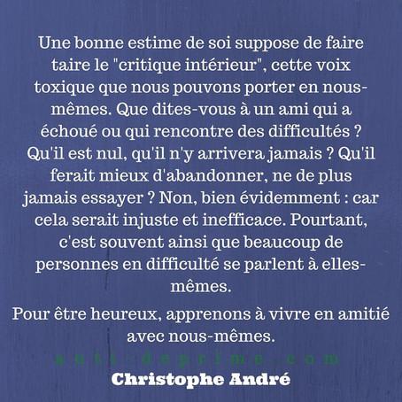 """Citation Christophe André, """"Vivre en amitié avec nous-même"""""""