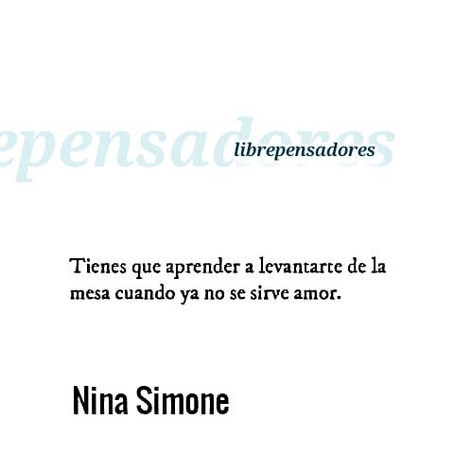 Citation de Nina Simone