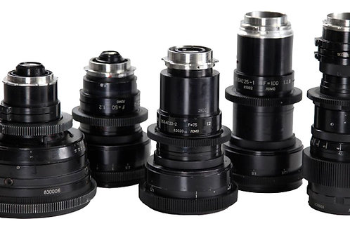 LOMO ANAMORPHIC LENS SET 6 lens set 35mm, 50mm, 75mm, 100mm, 150mm, 300mm rental