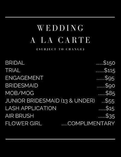 Bridal Menu
