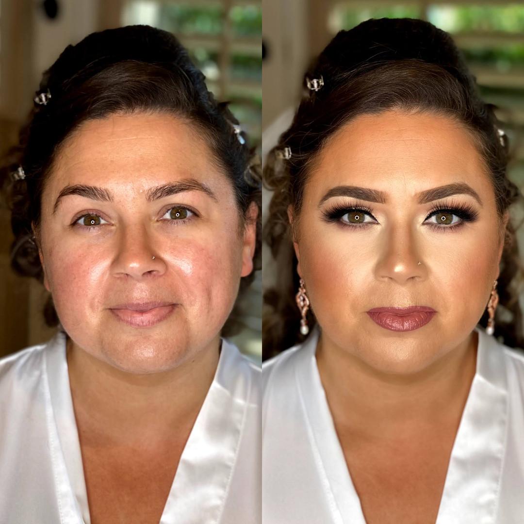 Full bridal glamour