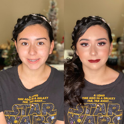 Homecoming dance before & after