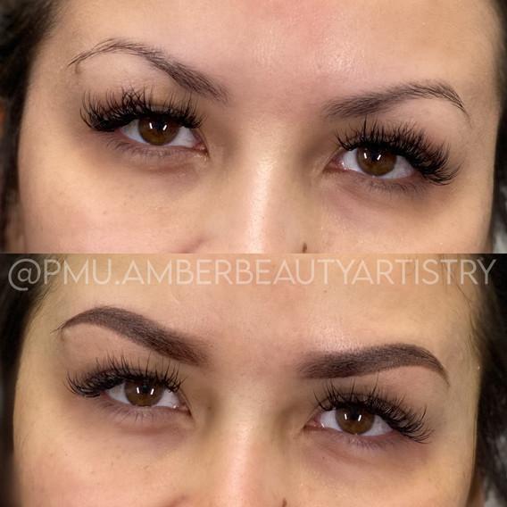 semi-permanent ombre brows