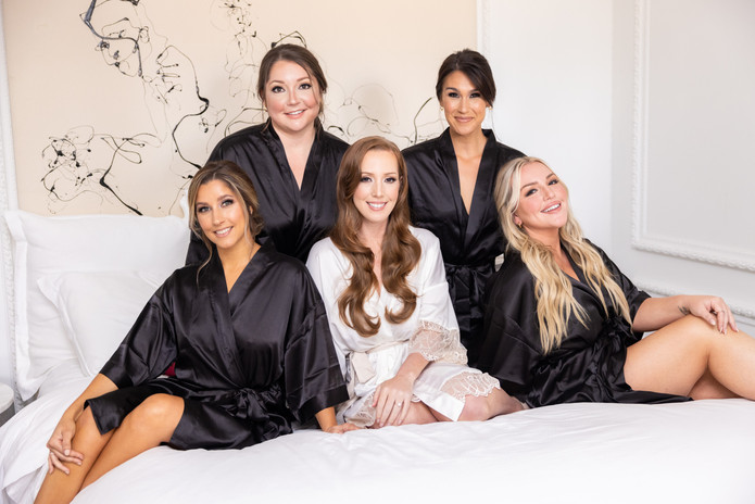 Get ready with the bridal party