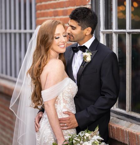 Dashing bride and groom