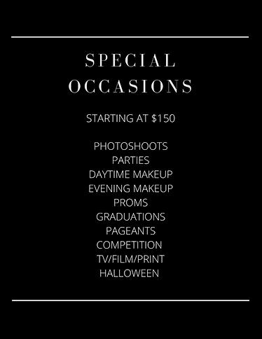 Special Occasion Menu