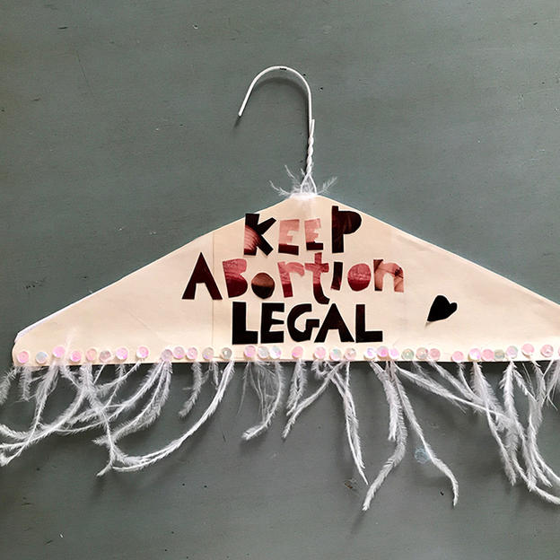 Keep Abortion Legal Hanger Art