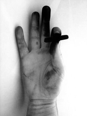 My charcoal hand. They say artists have long fingers. What do you think?