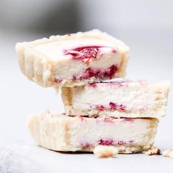 White Choc & Raspberry Tart