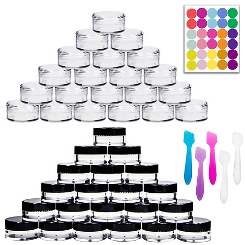 Youngever 140 Pcs 5 Gram Empty Plastic Cosmetic Samples Containers, Plastic Jars