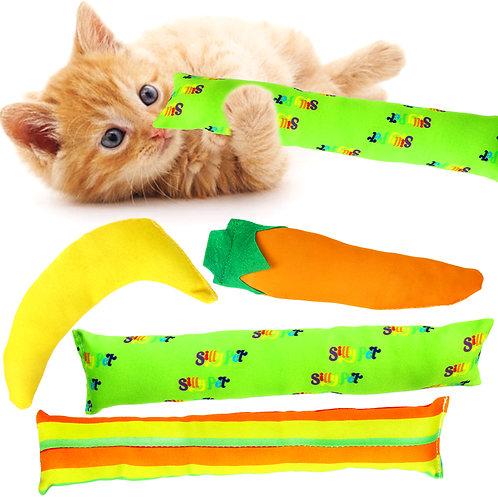 Youngever 4 Pack Cat Kicker Toys, Kitty Kick Stick, Catnip Cat Toys