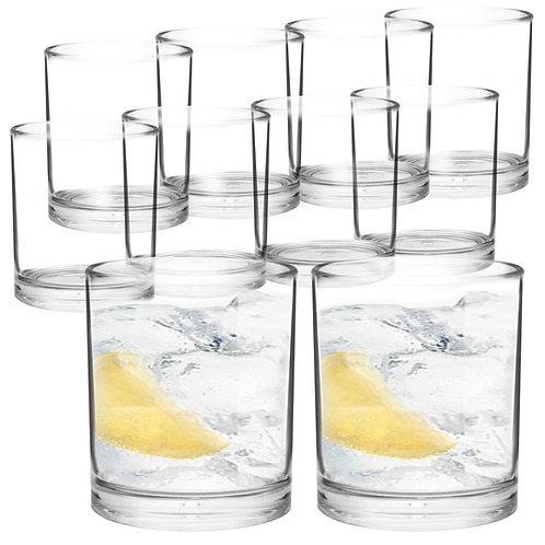 Youngever 8 Pcs Premium Quality Plastic Drinking Tumblers, 12 Ounce