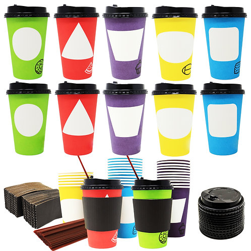 70 Coffee Cups with Lids