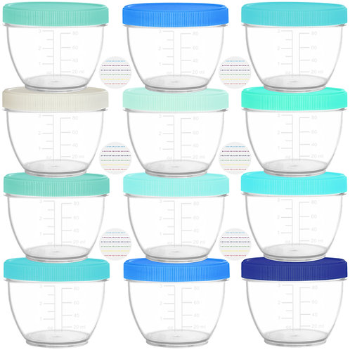 Youngever 18 Sets Baby Food Storage, 4 Ounce Baby Food Containers with Lids