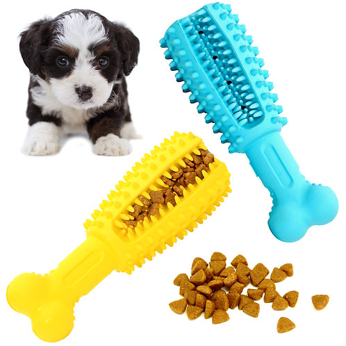 Youngever 2 Pack Dog Treat Toys for Pet Teeth Cleaning, Chewing, Small 4.8 inch