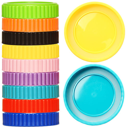 Youngever 27 Pack Plastic Mason Jar Lids with Airtight Ring