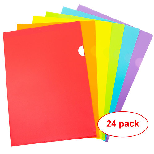 Youngever 24 Pack Plastic Project Folders Document Folders A4 Size